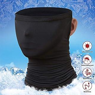 Idefair - Polainas para el cuello, protección UV, protección UV, unisex, protección contra el viento, bufanda, protector solar, transpirable, pañuelo para el cuello, para ciclismo, senderismo, motos y correr
