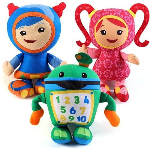 Hengtai PedeIECL 3 PCS Equipo UMIZOOMI Juguetes de muñeca de felpa para niños y niños