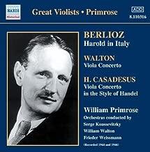 Berlioz: Harold in Italy / Walton: Viola Concerto / Casadesus: Viola Concerto (2006-08-01)