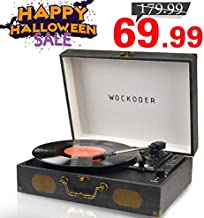 Record Player Turntable for Vinyl Record LP Record Player Portable Turntable with Speakers Wireless Turntable Player Support USB SD Phonograph Suitcase Unique Design