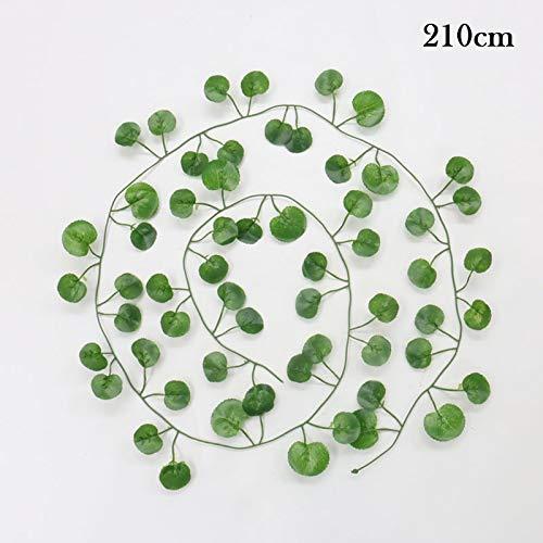 Decora la boda de la hoja verde de la planta 200cm artificial Parthenocissus vid de la hiedra for la familia mayorista de bricolaje colgantes de la guirnalda de las flores artificiales ( Couleur : C )