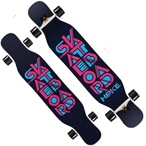 Best Buy! XUEYING-KickScooter Skateboard Professional Bamboo Wood Longboard Adult Brush Street Road ...
