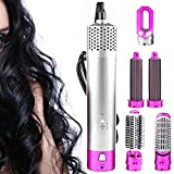 Hair Dryer, 5 in 1 Multifunctional Hair Dryer/Volumizer/<span class='highlight'><span class='highlight'>Rotating</span></span> Brush, Hairstyling Tools, Ionic Hair Curler and Straight Hot Air Styler Hair Wrap for Salon Hair Styling Curling and Smoothing
