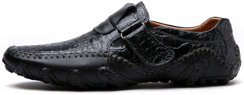 HhGold Männer Turnschuhe Freizeitschuhe Leder Flache Slipper Slip On Schuhe Männliche Schuhe (Farbe   8899 schwarz, Größe   741 EU)  | Ausgewählte Materialien