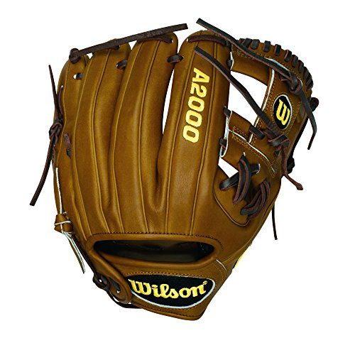 Wilson A2000 DP Infield Baseball Glove, Saddle Tan, Right Hand Throw, 11.5-Inch