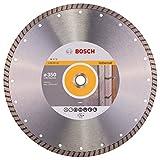 Bosch Professional Diamanttrennscheibe Standard for Universal Turbo (Stein, 350 x 20/25,40 x 3 x 10 mm, Zubehör Winkelschleifer)