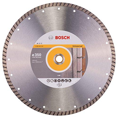 Bosch Professional Diamanttrennscheibe Standard für Universal Turbo, 350 x 20,00 und 25,40 x 3 x 10, 2608602587
