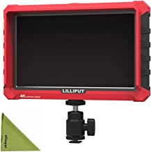 """LILLIPUT Professional A7s 7"""" 1920X1200 4K HDMI Input/Output Video Assist On-Camera Monitor with LP-E6 Battery Plate by VIV..."""