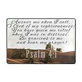 Alfombra de oración cristiana, portátil, estera de oración de versículo de la Biblia en Inglés, gruesa de espuma viscoelástica de alta densidad, 36 x 24 pulgadas, salmo 4:1 desierto