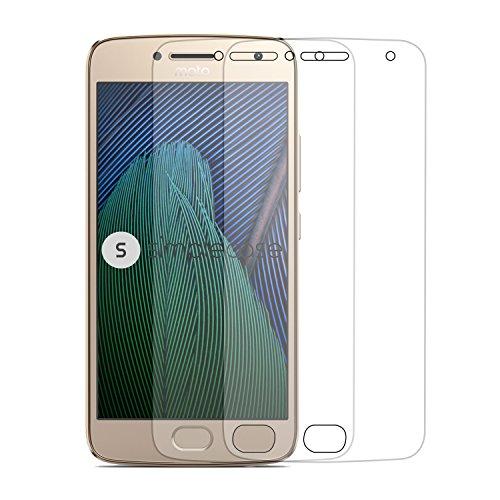 Simplecase Panzerglas passend zu Motorola Moto G5 Plus , Premium Displayschutz , Schutz durch Extra Härtegrad 9H , Case Friendly , Echtglas / Verbundglas / Panzerglasfolie , Transparent - 2 Stück