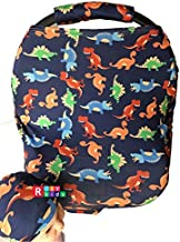 Rosy Kids Stretchy Infant Car Seat Canopy Cover, Jersey Car Seat Cover Elastic Nursing Scarf Privacy Cover with Matching Car Seat Handle Cover and Baby Hat, Color05AL01