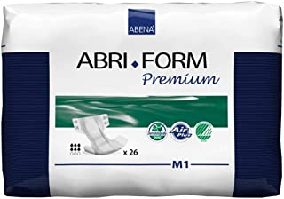 Abena Abri-Form M1 All-In-One Diapers, Case, 26ct (Pack of 4)
