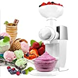 WJDOZ Home Fruit Soft Sirve Helado Creamer, Haga sorbetas de Helados deliciosos y Fabricante de Yogurt congelado Portátil Sano Postre Helado Máquina de Helado para el Postre Haga,Blanco
