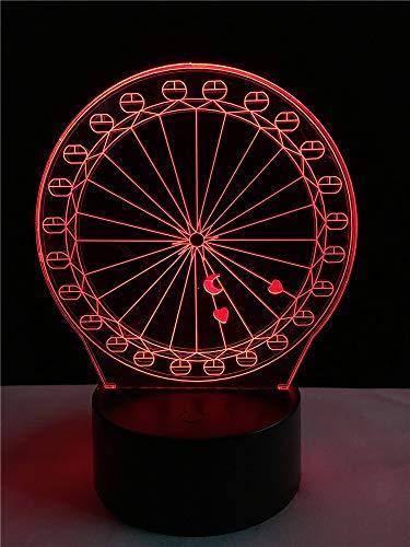 Creatief grote loopfiets voor kinderen, 3D-decoratie, nachtlampje, kabel, meerkleurig, eettafel, vrienden, kerstcadeau