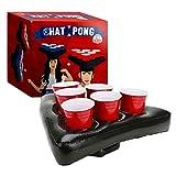 Original Hat Pong Officiel | Jeu Beer Pong Original | Qualité Premium | 2 Chapeaux Gonflables | 12 Red Cups | 2 Balles | Jeu à Boire | Jeu Soirée et Apéro | House Party | Créé par OriginalCup®