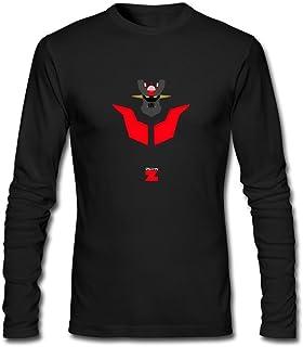 JXK Mens Mazinger Z Manga Series Art Design T-Shirt Long Sleeve XXXL