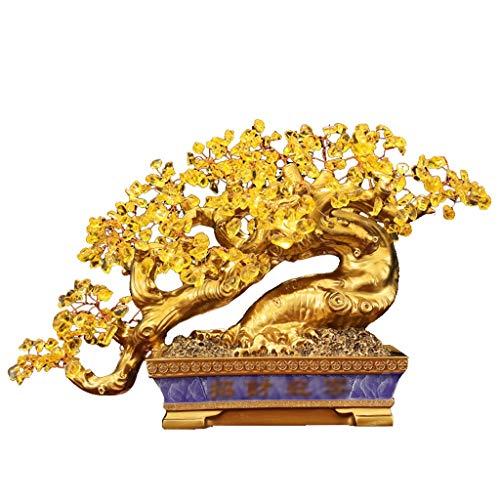 Ornamento de Escritorio Base citrinos suerte púrpura del árbol de lingotes Cuenca con los regalos for la meditación y la curación de Feng Shui for espacios de oficina Sala (9,0 pulgadas) artesanías de