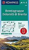KOMPASS Wanderkarte Brentagruppe, Dolomiti di Brenta: 3in1 Wanderkarte 1:25000 mit Aktiv Guide inklusive Karte zur offline Verwendung in der ... Skitouren. (KOMPASS-Wanderkarten, Band 73) - KOMPASS-Karten GmbH