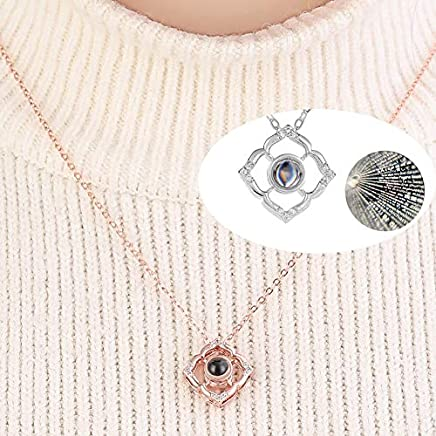Blingest Silver Rose Gold Pendant Choker Necklaces for Women Lovely Puppy Jewelry Accessories Gift for Mothers Day