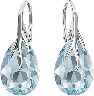 Beforya Paris – Orecchini a forma di pera, in diversi colori, in argento 925, con cristalli Swarovski – Meravigliosi orecchini con confezione regalo PIN/75