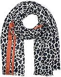 styleBREAKER chal de mujer con motivo de leopardo, coloridas rayas y flecos, chal de invierno, estola, pañuelo 01017082, color:Azul-anaranjado