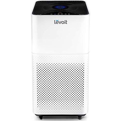 Levoit 810043370424 LV-H135 HEPA Luftfilter, Air Purifier mit 360 m³/H CADR für Raucherzimmer Wohnung, Luftreiniger mit Luftsensor Schlafmodus Timer für Allergiker Raucher Tierbesitzer, Weiß
