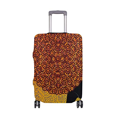 Luggage Cover Vintage Woman Suitcase Protector Baggage Fits 19-39 Inch,Size:M