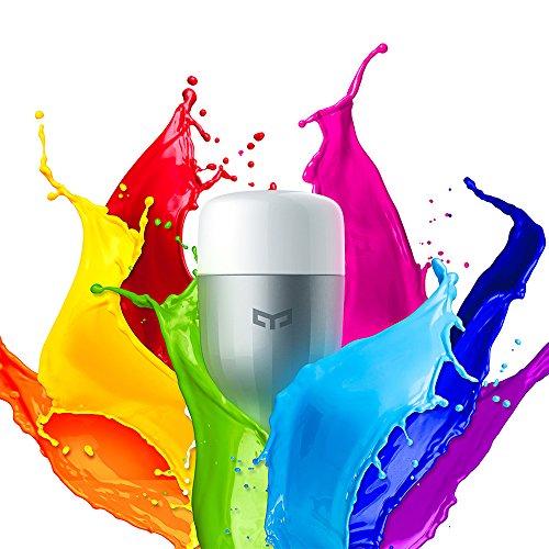 Лампа WiFi, OLLIVAN Xiaomi оригинал Лампа Yeelight E27 9W RGB LED Лампа для пульта дистанционного управления Беспроводная лампа Wi-Fi с регулируемой яркостью Умная лампа - Многоцветная версия