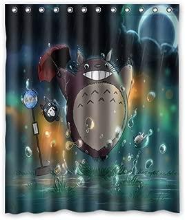 Aloundi Custom My Neighbor Totoro Waterproof Polyester Fabric Bathroom