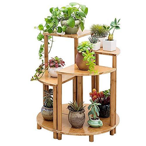 Tuin Huishoudelijke Ventilator Hoek Hoek Stand Houten Stand Plant Houder Opslagpot Hout Bloem Indoor Stand Pot Binnen (Kleur: A, Maat: 30x40cm)