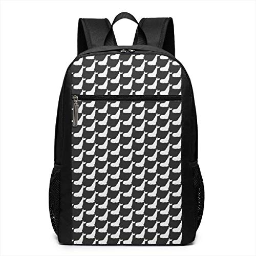 Lawenp Adorable Beluga Whale Unisex Backpacks 17 Inch School Bookbag Shoulder Bag Casual Daypack Laptop Bag Adorable Beluga Whale