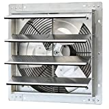 iLiving - 16' Wall Mounted Exhaust Fan - Automatic Shutter - Variable Speed - Vent Fan For Home Attic, Shed, or Garage...