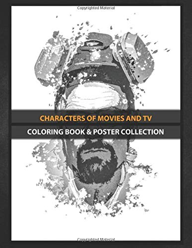 Coloring Book & Poster Collection: Characters Of Movies And Tv Breaking Bad Walter White Splatter Painting Movies