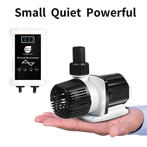 aquastation DC-4000 Silent Swirl Controllable DC Aquarium Pump 25W 1050GPH-marine wavemaker Return Pump with sine Wave Controller for Salt/Freshwater Coral Reef Fish Tank Sump Circulation (DC4000)