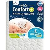 Babysom - Colchón Cuna Bebé Confort+ - 60 x 120 cm - Altura 14...