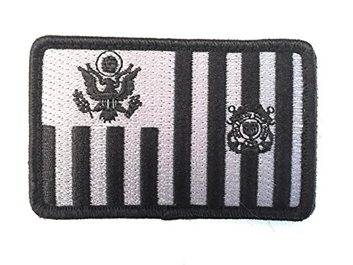 US Coast Guard Tactical Ensign Embroidery Patch with Hook/Loop Backing