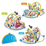 Yookidoo Baby Play Gym Lay to Sit-Up Play Mat. 3-in-1 Infant...