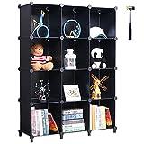 ANWBROAD Cube Storage Organizer 12-Würfel DIY Modular Closet Organizer Kunststoff Bücherregal...