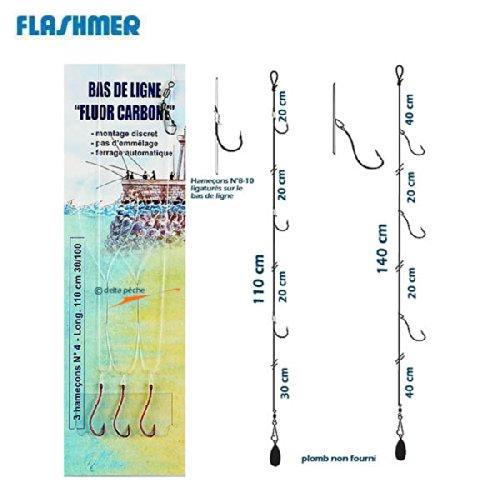 BAS DE LIGNE FLASHMER FLUORCARBON - 3 N° 4