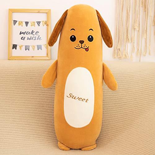 Xiaohua Almohada De Tira Animal De Dibujos Animados con Forro Extraíble Y Lavable Perro Conejo Felpa Juguete Cerdo Muñeca Almohada 115cm [Sección ordinaria] Perrito