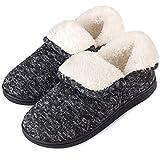 Women's Slippers Boots Memory Foam Fuzzy Booties House Shoes Winter Warm Indoor Outdoor, Dark Grey, Size 8