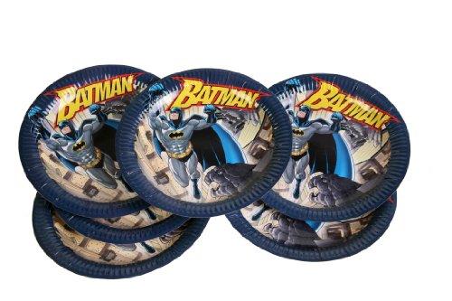 DYNASTRIB- Batman Assiettes, 9005545, Multicolore, 23 CM