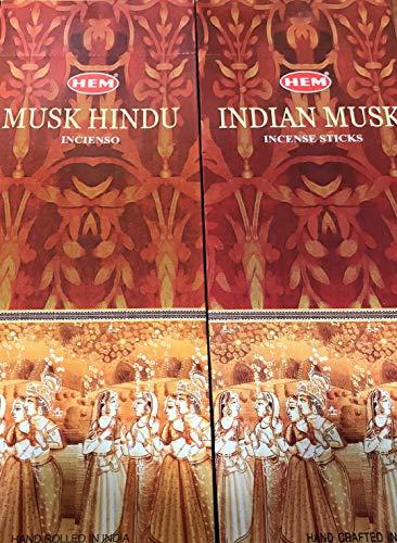 HEM Incienso Indian Musk - 6 Cajas x 20 Varillas