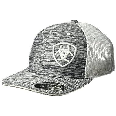 Ariat Men's Heather Offset Logo Cap, White, One Size