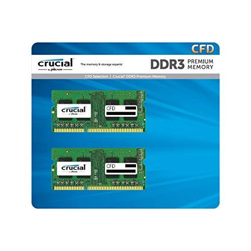CFD ノートPC用メモリ PC3L-12800 DDR3L-1600 2GB×2枚 1.35V1.5V両対応 無期限保証 Crucial by Micron W3N1600CM-2G