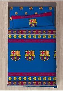 FCB FC Barcelona Referencia NI Juegos de sábanas y Fundas de Almohada Alfileres para faldón de Cama Textiles del hogar Uni...