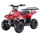 X-PRO 110cc ATV Quad Youth ATVs Quads 110cc 4 Wheeler ATVs ATV 4 Wheelers,Red