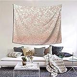 Tapiz de oro rosa para dormitorio, sala de estar, dormitorio, colgante de pared, tapices de decoración del hogar, 152 * 130 cm