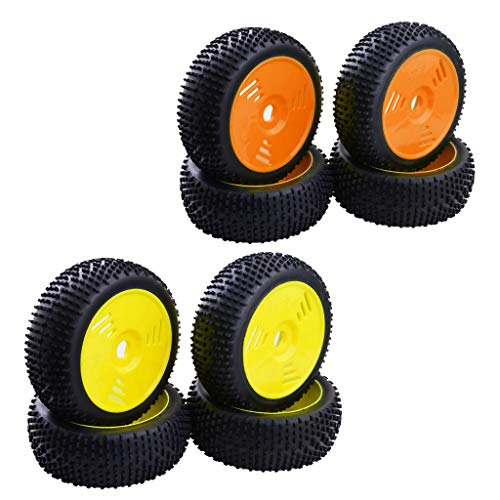 Perfeclan 8x Rubber Tires &Wheels 17mm Hex for 1/8 RC HSP HPI FS Hobby...