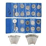 Mini discos de corte recubiertos de diamante, tamaño pequeño, kit de herramientas rotativas de las ruedas de corte, accesorios de corte